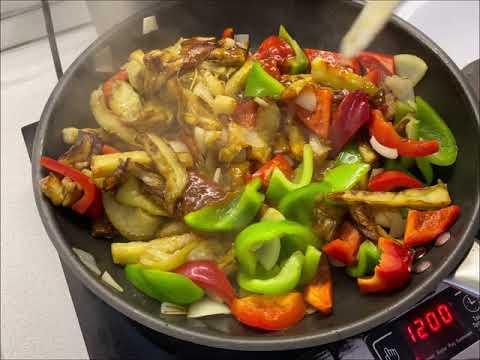 Баклажаны в Кисло Сладком соусе Eggplant in Sweet and Sour Sauce