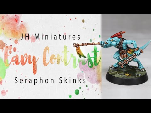 'Eavy Contrast Seraphon Skinks