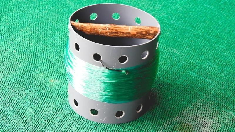 Fácil de hacer carrete de mano para pescar Easy to make hand reel for fishing
