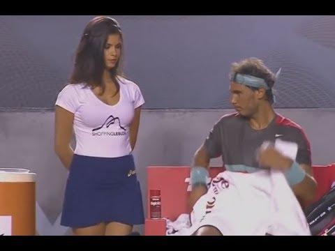 테니스 경기장의 유쾌하고 놀라운 순간들 Awesome and Funny Tennis