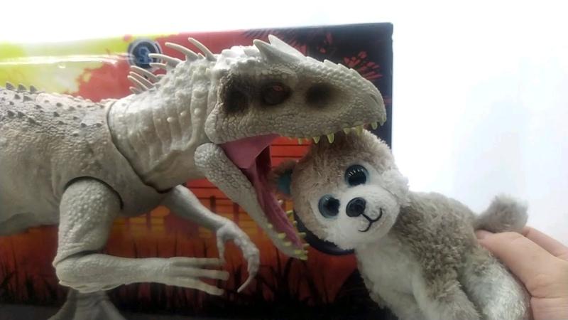 Индоминус Рекс и щенок Митя Обзор игрушки Мир Юрского периода Indominus Rex Jurassic World GCT95