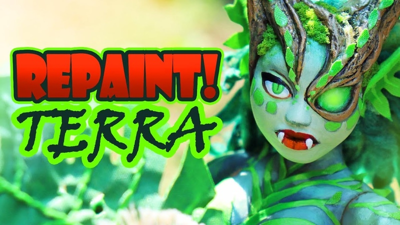 Repaint Terra the Earth Dragon OOAK Art Doll Custom