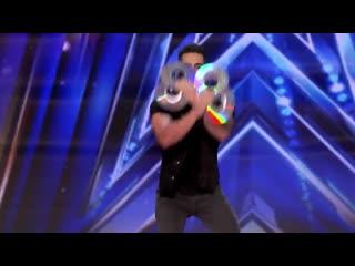 Magician Florian Sainvet Performs Mind-Bending Magic With CDs - America's Got Talent 2020