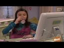 Interesting megan from drake and Josh girl drinking from can on computer