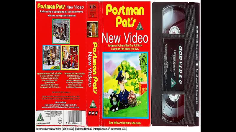 Postman Pats New Video BBCV 4691 The Very Best of Postman Pat BBCV 4869 Postman Pat and the Tuba BBCV 5472 UK VHS