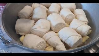 Штрудли с Капустой и Картошкой.Семейный Немецкий Рецепт.Strudel mit Kohl und Kartoffeln.