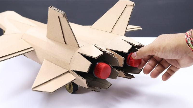 Cola Powered DIY Cardboard Jet