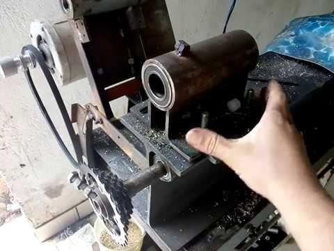 Cabeçote fixo do torno com eixo e flange como faser sem pagar torneiro mecânico