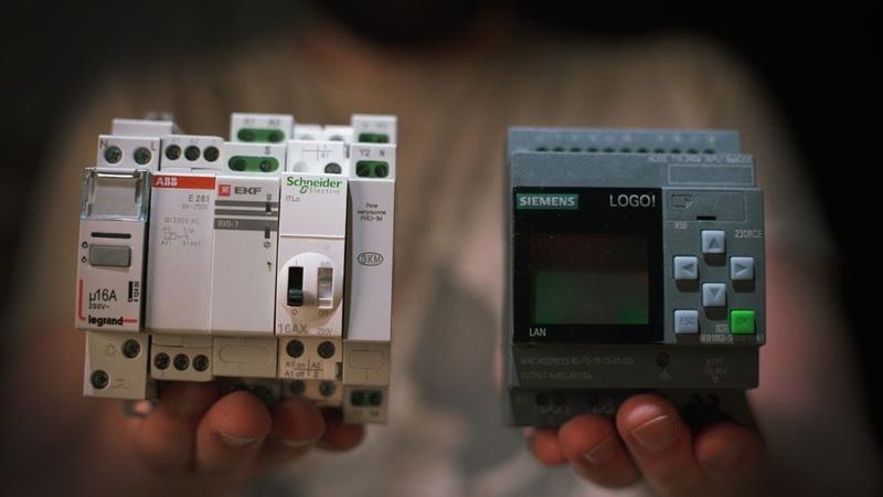 Импульсные реле или ПЛК Siemens logo для управления светом KonstArtStudio