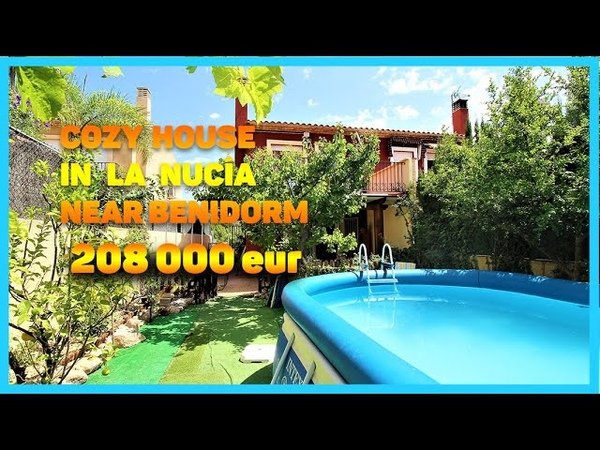 In sale cosy house in La Nucia with views 5 km from Benidorm
