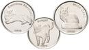 3 монеты 1 фунт Остров Сторма Кошки 2019 года.