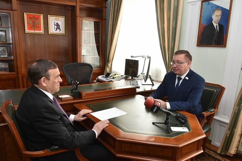 Евстифеев встретился с зампредседателя Госсобрания Марий Эл