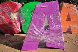 Вандалы испортили огромные буквы в Верхнем парке