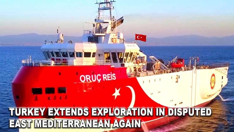 Turkey extends exploration in disputed east mediterranean