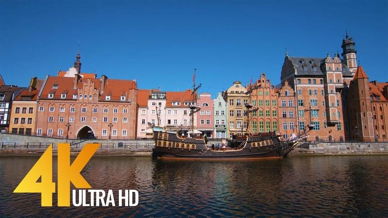 4K Gdansk, Poland - Cities of the World   Urban Life Documentary Film