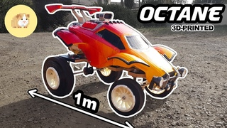Huge RC Octane with an Angle Grinder! Tribute to Rocket League!