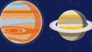 Космос для детей. Система планет для детей. Развивающий мультик для малышей