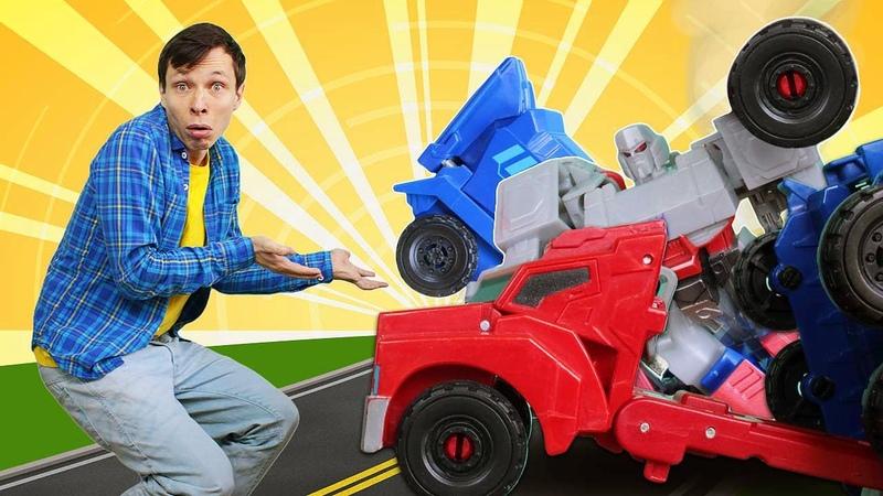 Автобот Оптимус Прайм сломался Роботы Трансформеры в Мастерской Сборник видео игры для мальчиков