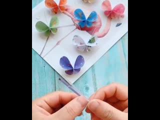 КРАСИВЫЕ БАБОЧКИ, которых очень просто сделать с ребенком из бумаги.