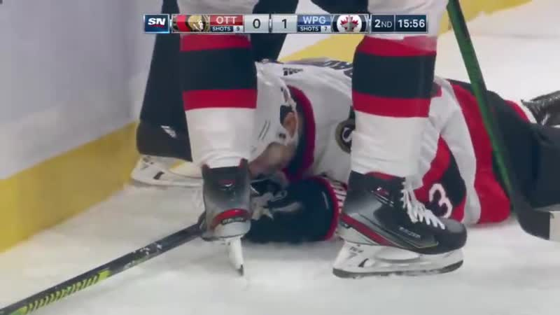 Evgenii Dadonov ties it up at 1 for the Senators with a terrific one handed diving effort GoSensGo