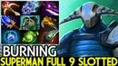 BURNING Sven Imba Superman Full 9 Slotted The Leveller Dota 2
