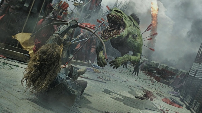 Великая стена Вильям убивает трех Тао Тей