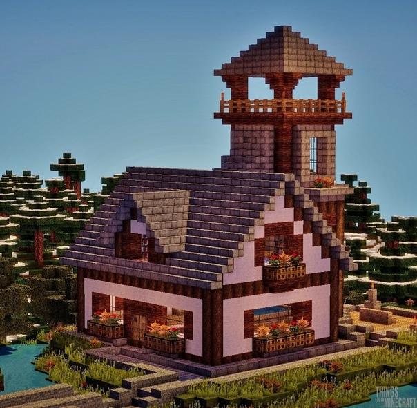 майнкрафт небольшой дом #3