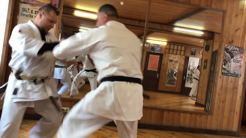 Honbu Dojo Kyokushin Karate Shihan Aziz Ashrafov and Sensey Evgeni Rubin