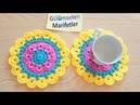 Mandala motifi yapımı / bardak altlığı yapımı / örgü modelleri