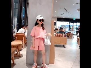 Летняя розовое одежда 4th of july подростков симпатичная из хлопка топ с открытыми плечами + шорты
