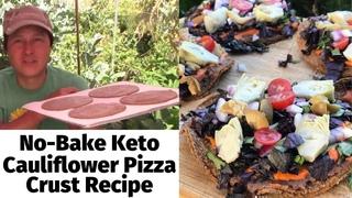 Easy to Make No Bake Keto Cauliflower Pizza Crust Recipe | Raw Vegan