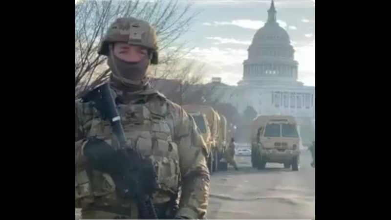 Америка готовится к инаугурации президента Байден боится своего народа