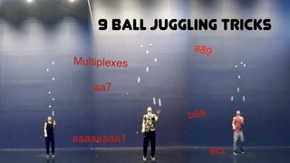 9 ball juggling - 9 different starts