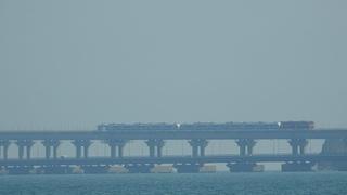 ЭП2Д в шестивагонной комплекции. Прошли сегодня на Крым.Керчь мост.