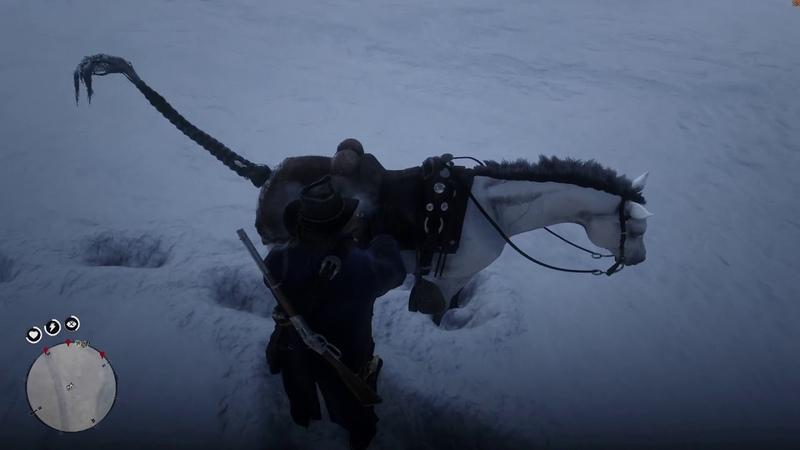 Red Dead Redemption 2 Выслеживаю и убиваю легендарного белого бизона