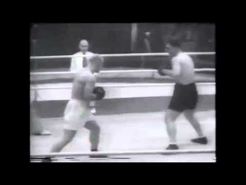 BOXING 1945 Moscow of 6 roundes of absolute USSR championship . Andro Navasardov VS Nikolay Korolev.