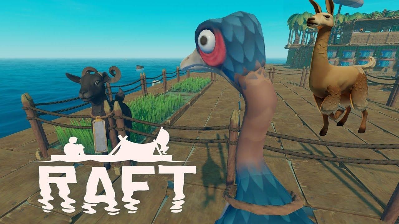 Животные в игре Raft