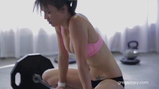 beautiful Malena Morgan working out !!