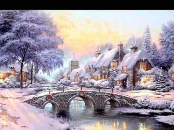 Томас Кинкейд очень позитивный американский художник импрессионист