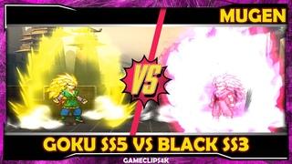 Goku SS5 Vs Black SS3 Rose [Hard Fight] MUGEN JUS CHAR