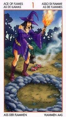 Таро Юных Ведьм. Младшие Арканы. Факелы SxT8nIxuEFE