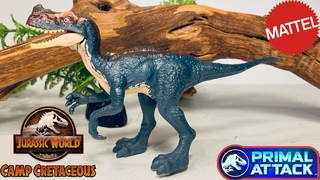 Mattel Camp Cretaceous Proceratosaurus Review!! Attack Pack Jurassic World Primal Attack