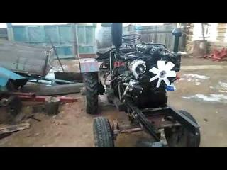 установка дизельного двигателя JD295B на самодельный трактор VID 20200324 WA0001