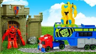 Видео сборник Автоботы VS Десептиконы! – Роботы Трансформеры Оптимус и Бамблби в видео игры битвы