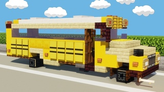 School Bus   Minecraft Vehicle Tutorial