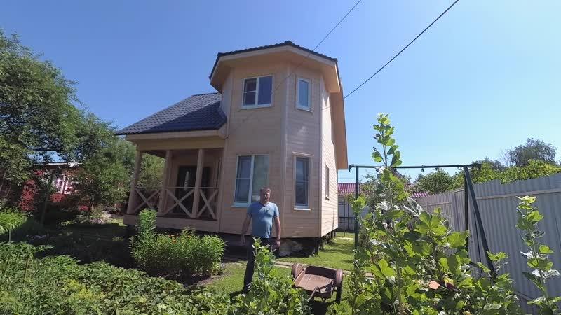 Каркасный дом 7 на 7м, по проекту Ландыш 2 в Московской области