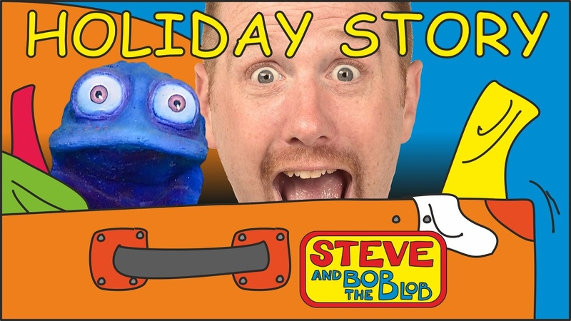Holiday Story with Clothes for Kids from Steve and Bob the Blob Learn English Vocabulary