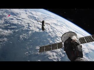 Расстыковка модуля «Пирс» и МКС: полная версия в 4К
