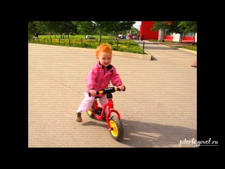 Беговел Puky LR M - первые дни (Настя, 2 года)