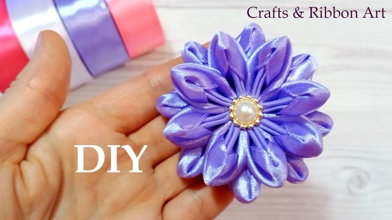 Easy Flower Making Idea - DIY Ribbon Flowers - How to Make Ribbon Flower - Flores de Fita